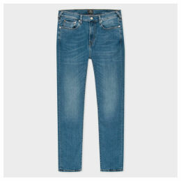 Men's Slim-Fit Blue-Rinse 'Blue/Black Reflex' Denim Jeans