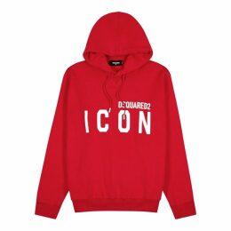 Dsquared2 Red Logo-print Cotton Sweatshirt