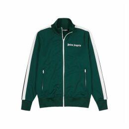 Palm Angels Green Jersey Sweatshirt