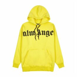 Palm Angels Yellow Printed-logo Cotton Sweatshirt