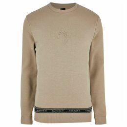 Mens River Island Big and tall Beige Maison slim fit sweatshirt