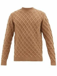 Dunhill - Lattice-cable Cashmere Sweater - Mens - Beige