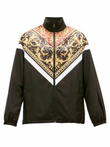 Versace - Baroque-panel Zip-through Track Jacket - Mens - Black Multi