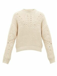 Isabel Marant - Nuko Knitted Cotton-blend Sweater - Mens - Cream