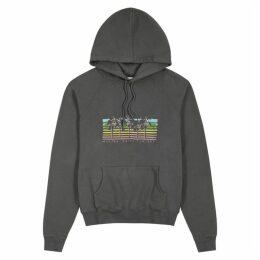 Saint Laurent Grey Printed Cotton Sweatshirt