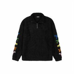 Pleasures Dead Black Embroidered Fleece Sweatshirt