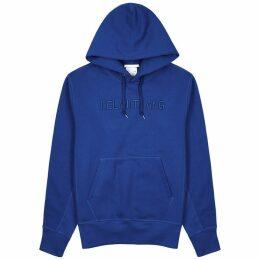Helmut Lang Standard Blue Logo Cotton Sweatshirt