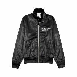 Helmut Lang Sash Black Coated Jersey Sweatshirt