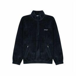 Carhartt WIP Tila Navy Velour Sweatshirt