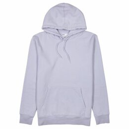 COLORFUL STANDARD Lilac Hooded Cotton Sweatshirt