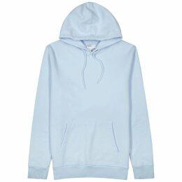 COLORFUL STANDARD Light Blue Hooded Cotton Sweatshirt