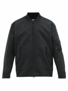 Valentino - Moon-print Satin Bomber Jacket - Mens - Black
